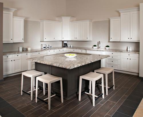 Blue Flower granite kitchen