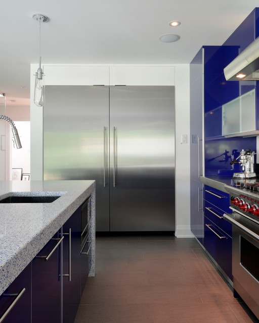 Blue Kitchen contemporary-kitchen
