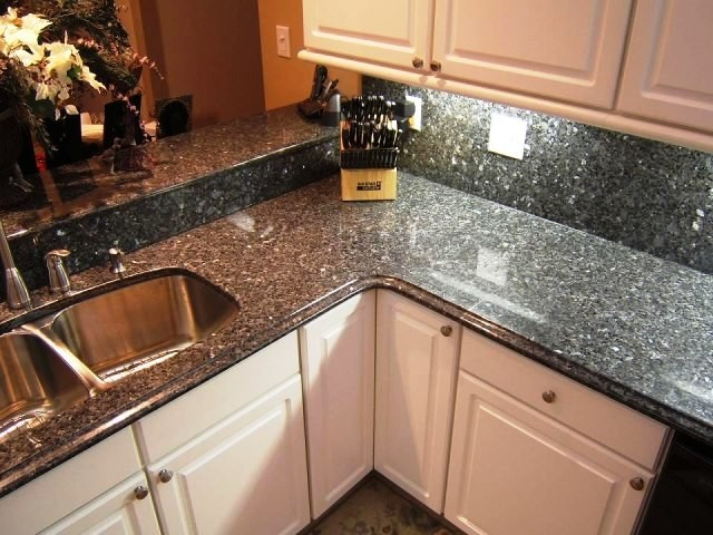 Blue Pearl Countertops American Traditional Kitchen
