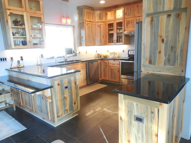 Blue Pine Kitchen - Contemporary - Kitchen - by Cabinet Crafters