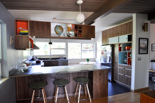 Mid Century Modern Kitchen Modern Kitchen Other Metro By
