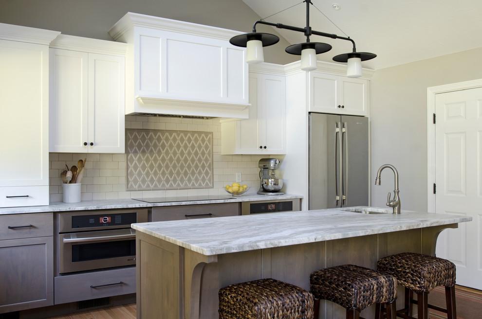 Kitchen - transitional kitchen idea in Portland Maine