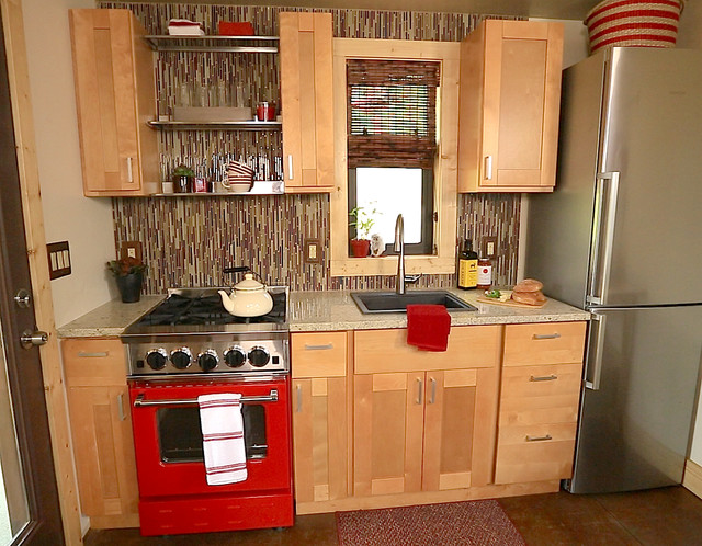 Bluestar featured in tiny house nation in a home that 39 s for Kitchen appliance layout ideas