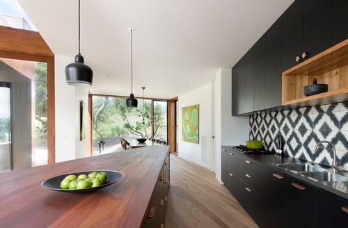 Black in kitchen space