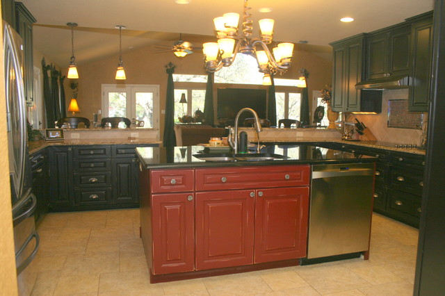 Bobo Custom Builders in Hill Country village eclectic-kitchen