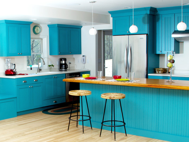 Bold And Blue Cottage Kitchen - Eclectic