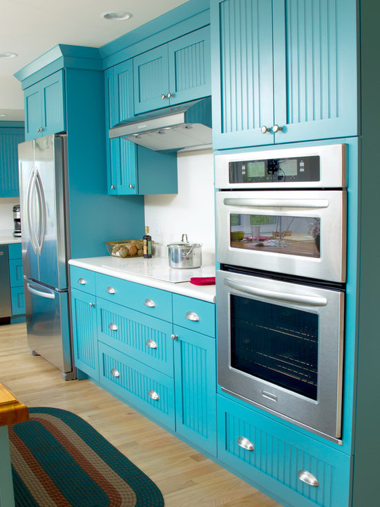 Teal Blue Kitchen Design Ideas, Remodels & Photos