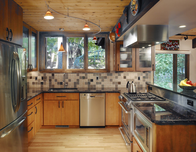 Beautiful Example Of An Eclectic Kitchen Design In DC Metro With Stainless Steel  Appliances