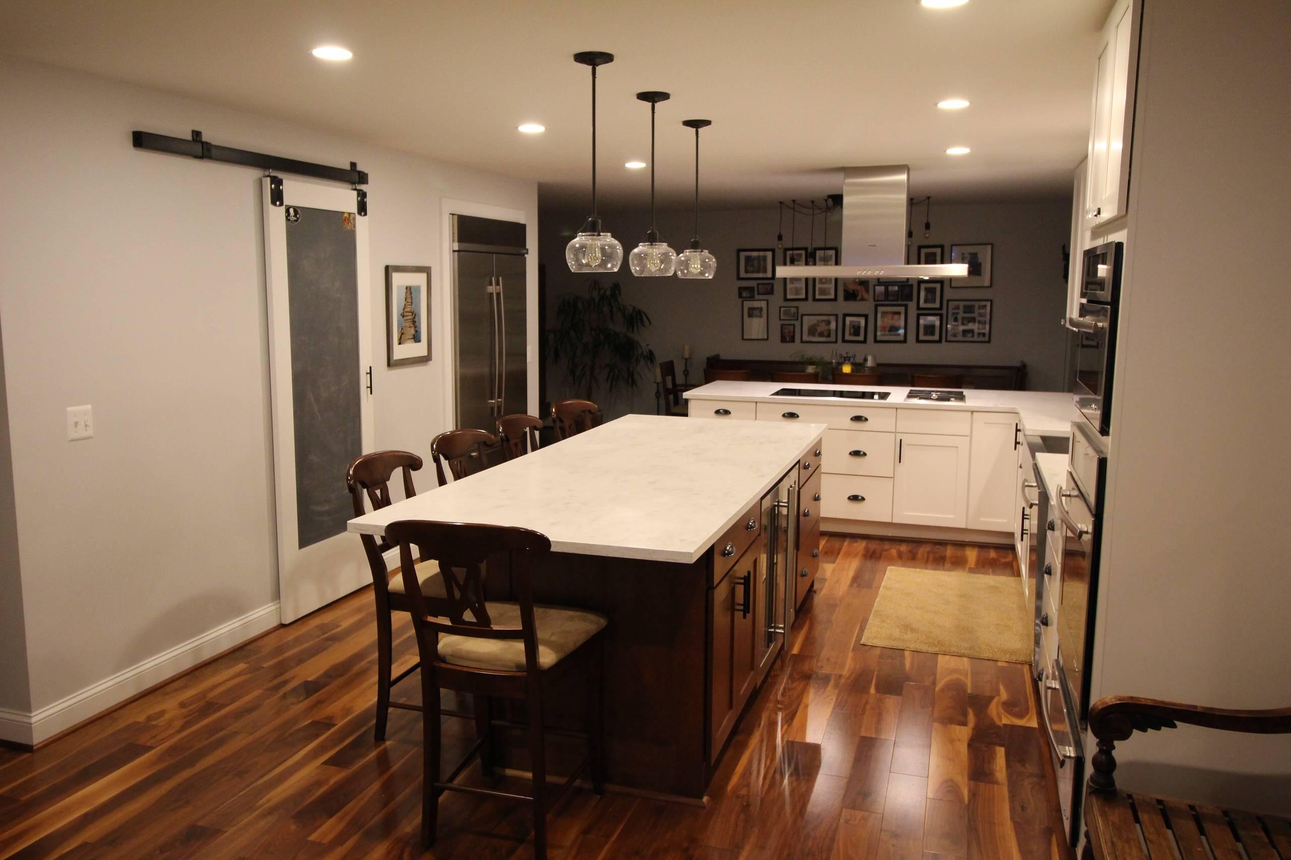 Bold Barn Door Kitchen