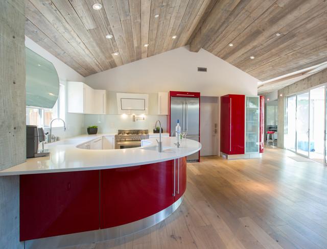Bold Colors Light Define Los Altos Home Modern Kitchen San Francisco By European