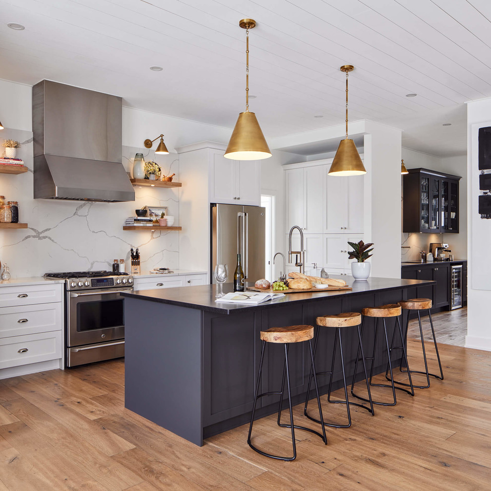 Kitchen Design Ottawa: Bold Contrast Kitchen