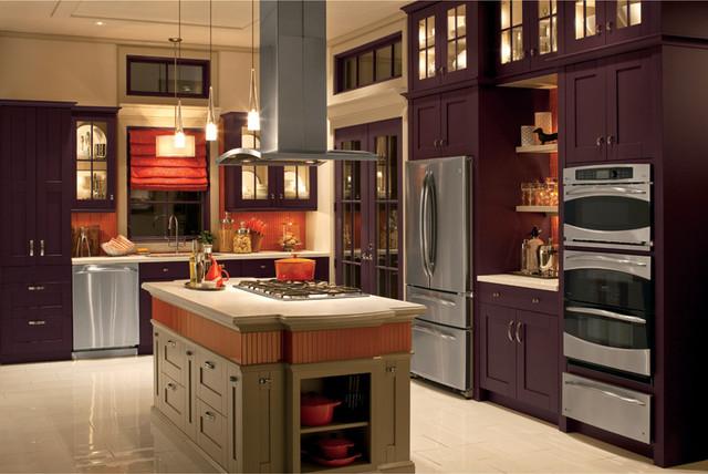 bold orange backsplash traditional kitchen other metro by