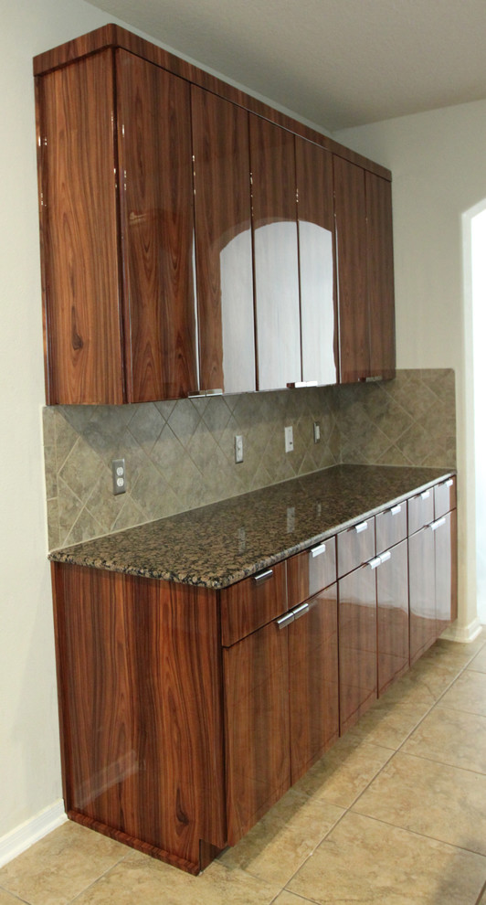 Bolivian Rosewood Cabinets - Modern - Kitchen - by Exotic ...