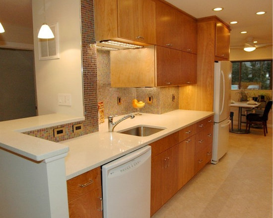 Galley kitchens with half walls - Half wall kitchen designs ...