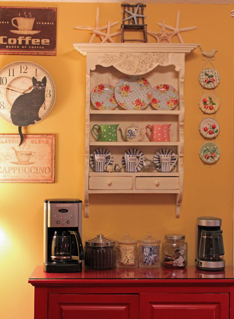 Bookcases In The Kitchen eclectic-kitchen