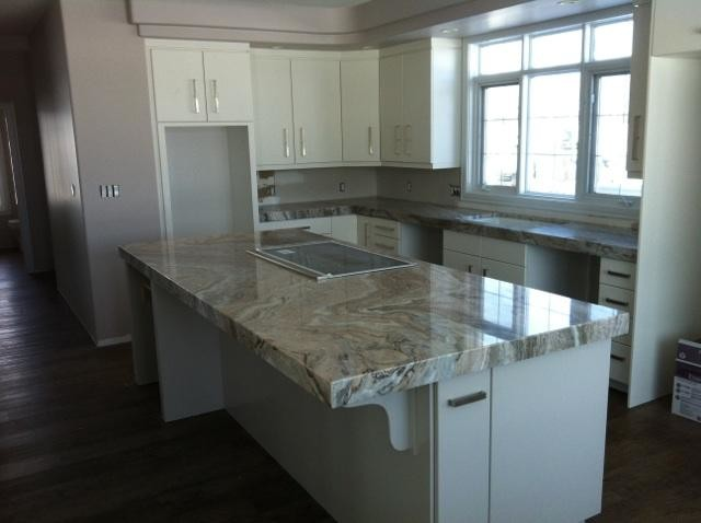 Bookmatched Granite Countertop Seams Contemporary Kitchen Edmonton By K J 39 S Custom