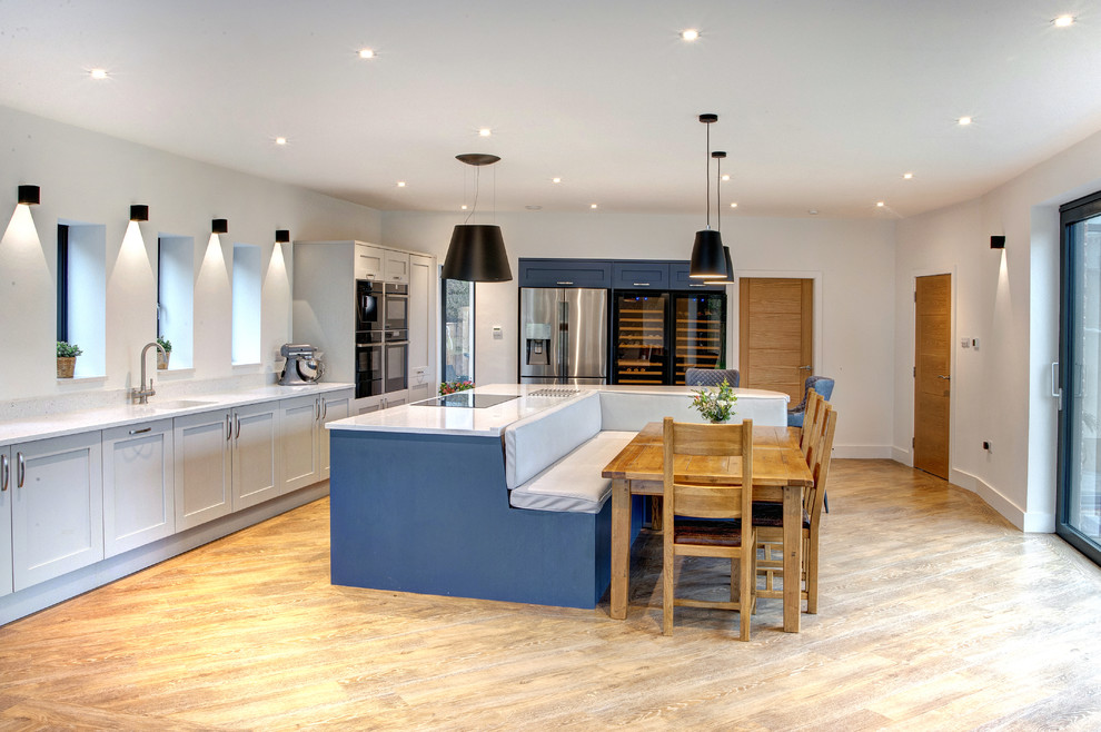 Booth Seating Island Shaker Kitchen Contemporary Kitchen Other By Bespoke Interiors Houzz