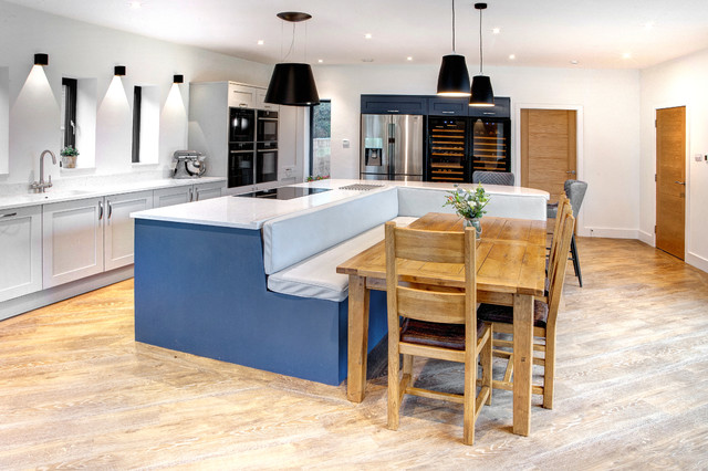 Booth Seating Island Shaker Kitchen Contemporary Kitchen Other By Bespoke Interiors Houzz Uk