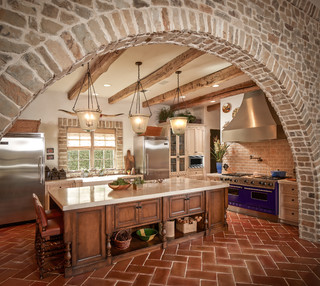 Bordley mediterranean kitchen houston by thompson custom homes