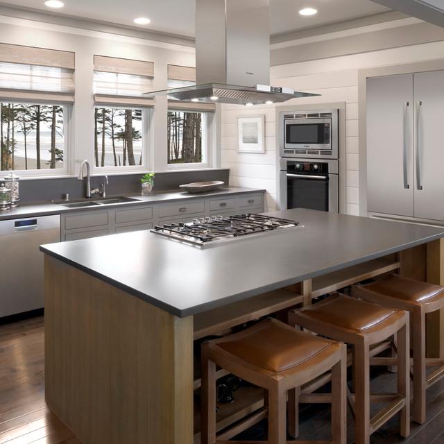 White Modern Kitchen Waplag Appliances Island Big Home: Bosch Kitchens