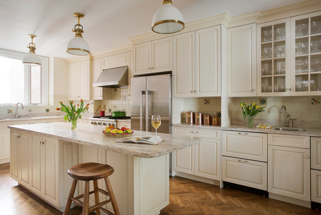Boston Back Bay Renovation - Traditional - Kitchen - Boston - by Morse Constructions Inc.