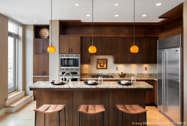 Boston Condo Transitional Kitchen Boston By Studio