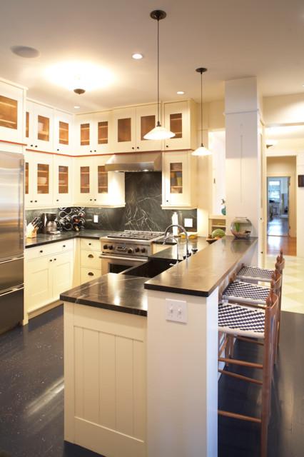 boston home magazine lake house farmhouse kitchen