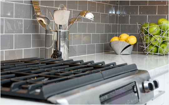 Boston Modern Kitchen San Francisco by lisa gutow design – Grey Subway Tile Kitchen