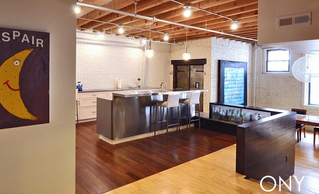 Boston Loft Kitchen and Bar - Modern - Kitchen - boston - by ONY architecture LLC.