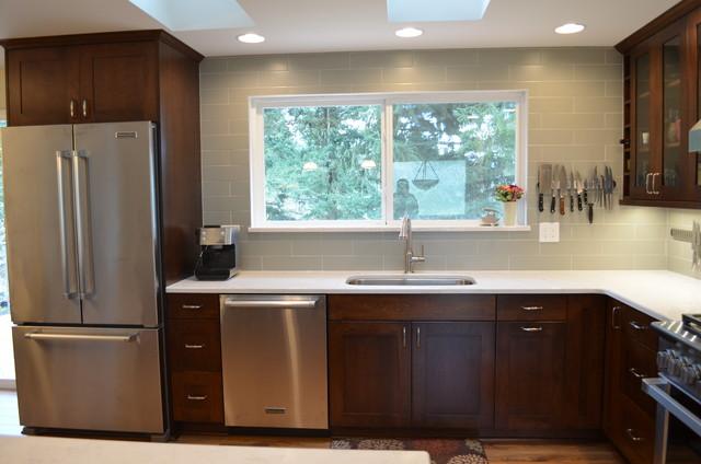 Bothell Split Level Home Kitchen Remodel Transitional Kitchen