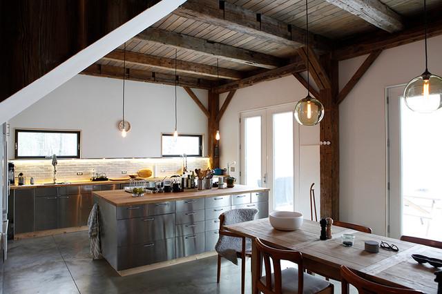 Bovina House rustic-kitchen