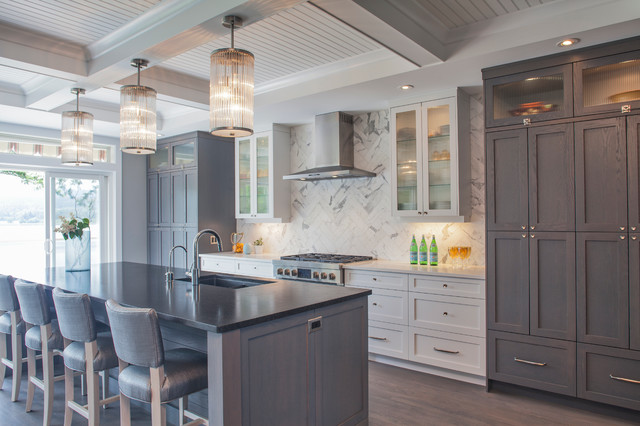 Brannen Lake Transitional Kitchen Vancouver By Ivory Design Company