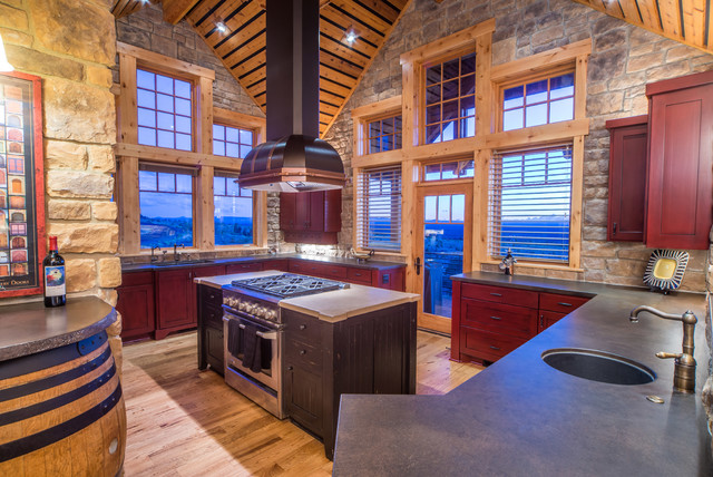 Rustic Open Kitchen Designs Simple Traditional Kitchen Designs