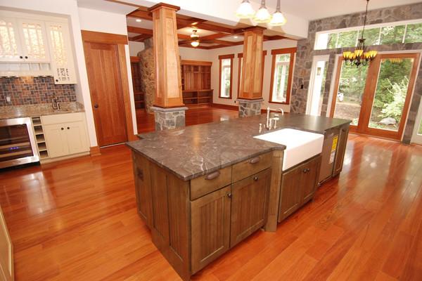 "Brazilian Cherry Flooring - Prefinished 3/4"" x 5"" Clear Grade - Craftsman - Kitchen - dc metro ..."