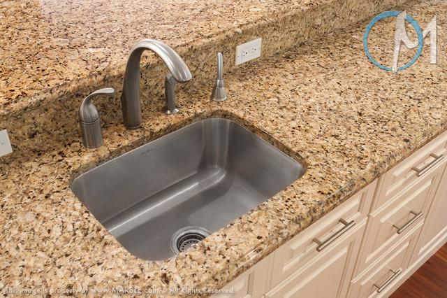 Brazilian Gold Granite Kitchen Countertops Contemporary
