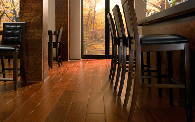 Brazilian Walnut Solid Hardwood Floors Contemporary Kitchen