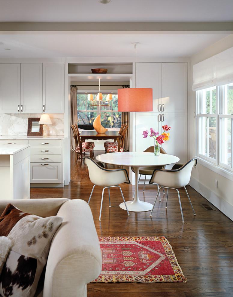 Open concept kitchen - farmhouse open concept kitchen idea in New York