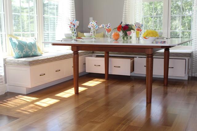 breakfast built in bench traditional kitchen boston by eileen kollias design. Black Bedroom Furniture Sets. Home Design Ideas