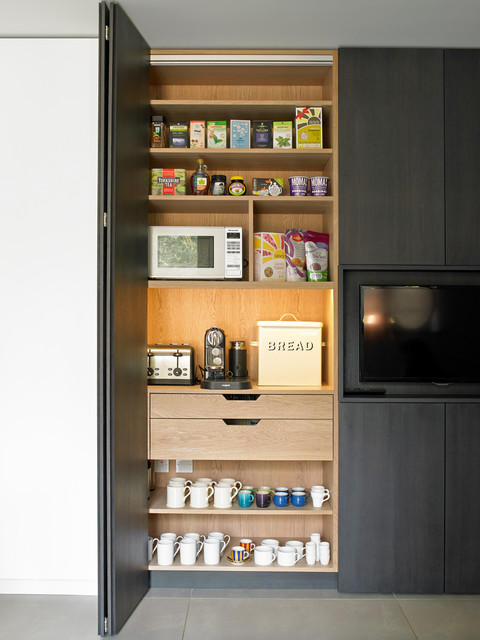 Breakfast Cabinet With Bi Fold Doors Contemporary