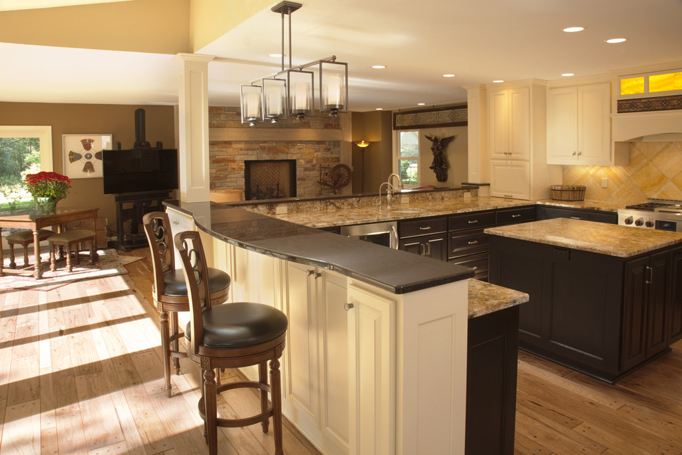 Breakfast Counter Transitional Kitchen Milwaukee By Wade Design Construction Inc