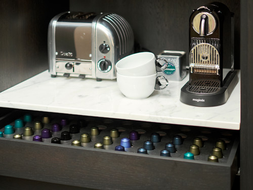 Breakfast cupboard with Nespresso drawer