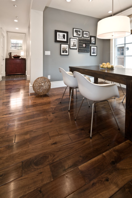 Breakfast nook contemporary kitchen salt lake city for Grey brown floor tiles