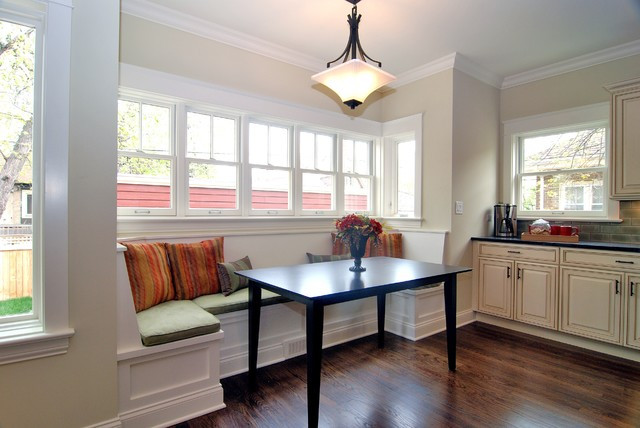 Breakfast nook traditional kitchen chicago by for Built in kitchen seating ideas