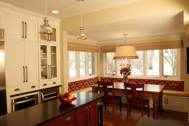 island in the kitchen pictures breakfast nook traditional kitchen chicago by 7597