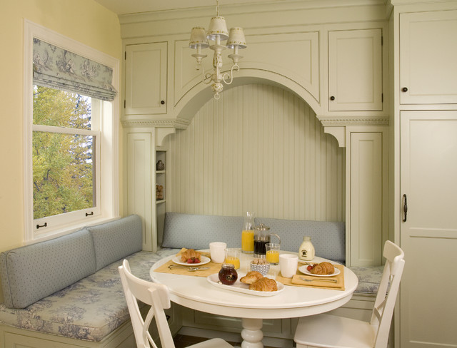 Breakfast nook with built in seating and storage traditional-kitchen