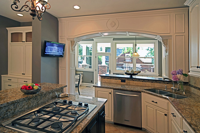 breakfast room addition central west end traditional kitchen st louis by mosby building. Black Bedroom Furniture Sets. Home Design Ideas