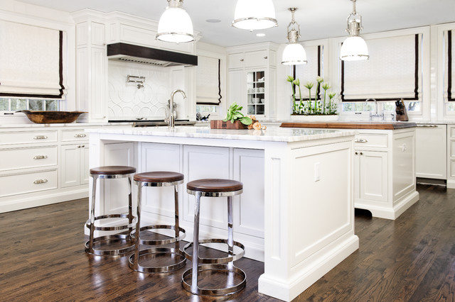 Breaking Beautiful White Kitchen traditional-kitchen