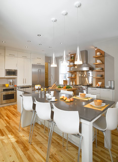 Breeze of freshness contemporary kitchen montreal for Cuisine design montreal