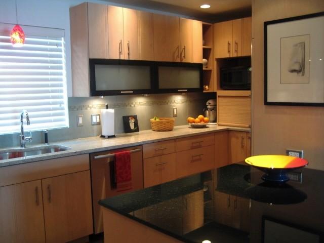 Bremerton's Manette Water Front Home modern-kitchen