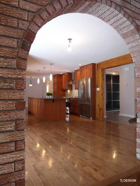 Brick arch house traditional kitchen ottawa by 7j for Arch design indian home plans
